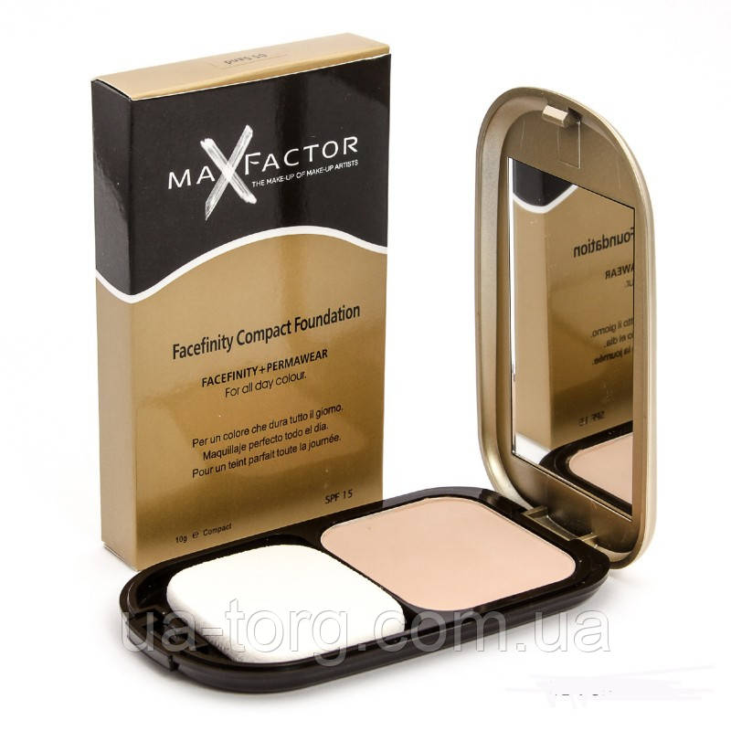 Компактная пудра Max Factor Facefinity Compact Foundation SPF 15 (золотая) 6 шт.