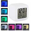 Светящиеся часы будильник термометр ночник хамелеон, фото 4