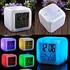 Светящиеся часы будильник термометр ночник хамелеон, фото 7