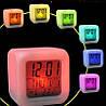 Светящиеся часы будильник термометр ночник хамелеон, фото 8