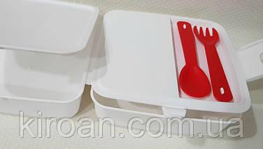 Контейнер для їжі, Ланч бокс 1,4 л Hobby life (білий), фото 2