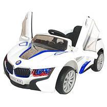 Детский Электромобиль BMW М 2510 белый со встроенным планшетом, колеса EVA, амортизаторы и пульт BlueTooth, фото 2