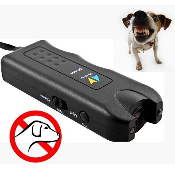 Ультразвуковой отпугиватель собак + фонарь MT- 650