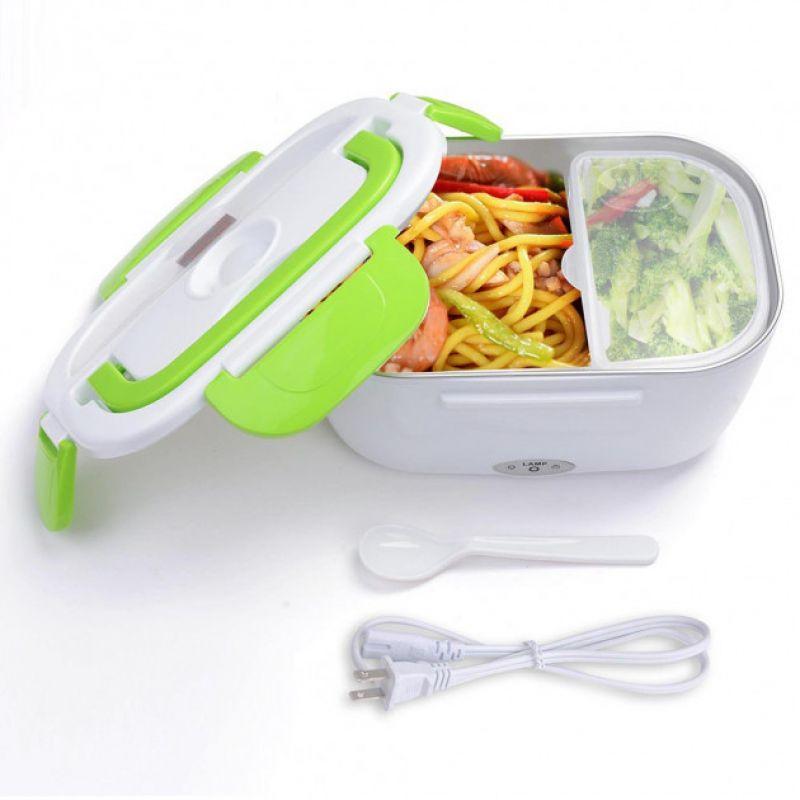 Ланч-бокс с подогревом The Electric Lunch Box / Бокс для подогрева еды ЗЕЛЕНЫЙ