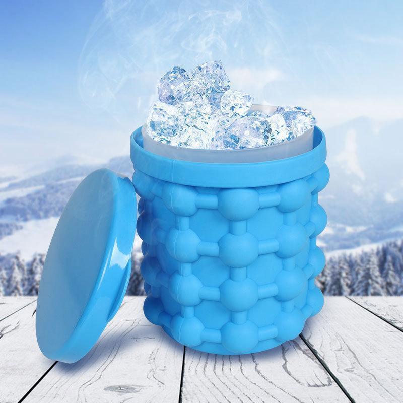 Силиконовое ведро-форма для льда Ice Genie с крышкой