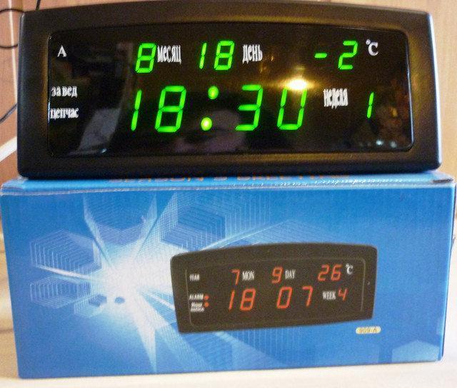 Настольные электронные LED часы 909-А (календарь, температура, будильник)