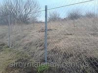 Забор для дачи из сетки-Рабица