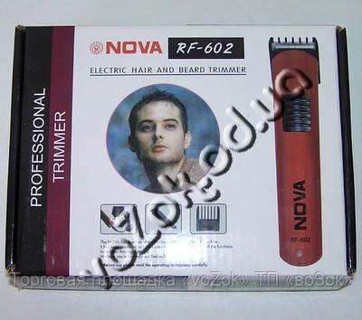 Беспроводная машинка триммер для стрижки волос Nova RF-602 на аккумуляторе
