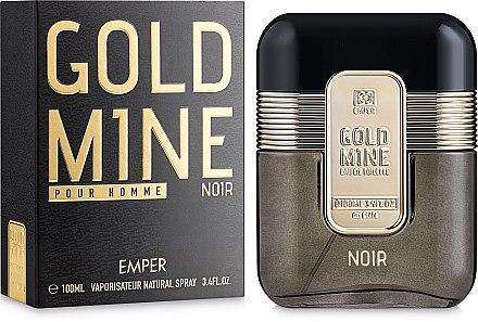 Мужская парфюмерная вода Gold Mine Noir 100ml.Emper