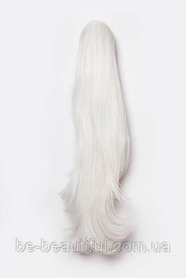 Ровные шиньоны на крабе №2.Цвет белоснежный блонд