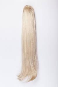 Ровные шиньоны на крабе №2.Цвет классический блонд