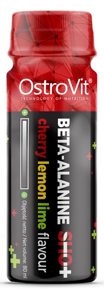 Бета-аланин OstroVit - Beta-Alanine Shot (80 мл) вишня-лимон-лайм