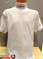 Белая блузка - американка короткий рукав на 10 -12 лет
