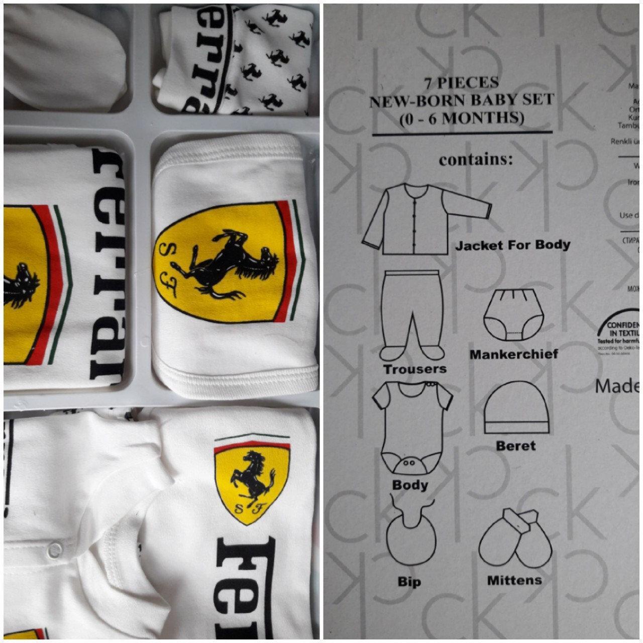 Комплект детский Ferrari 0-6 месяцев 7 в 1
