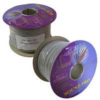 Кабель акустический Sound Pro, Cu, 2х1.0мм², плоский, 100м., JY-6112-1