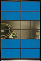 Шафа-купе Синій/д/бронза 114/114