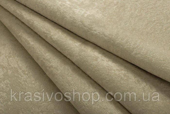 Ткань  блэкаут софт соломенный