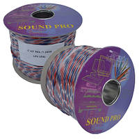 Кабель акустический Sound Pro, Cu, 2х1,2мм², прозрачный, 100м., JY-154