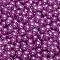 Посыпка шарики глянцевые d-5 мм, сиреневая 50 гр