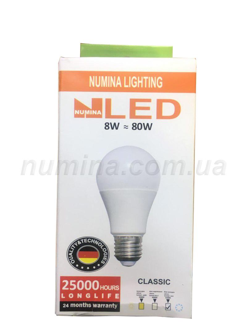 Светодиодная лампа груша LAMP картон A60 8W E27 6500K 160