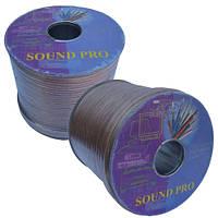 Кабель акустический Sound Pro, Cu, 2х2.0мм², прозрачный, 100м (JY-6217)