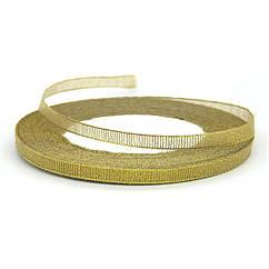 Лента парча 0,6 см золото