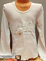 Белая блузка длинный рукав 6 , 7, 8, 9 лет