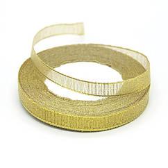 Лента парча 1,2 см золото 23 метра