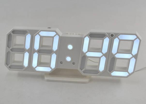 Электронные настольные LED часы с будильником и термометром Caixing CX-2218 , фото 2