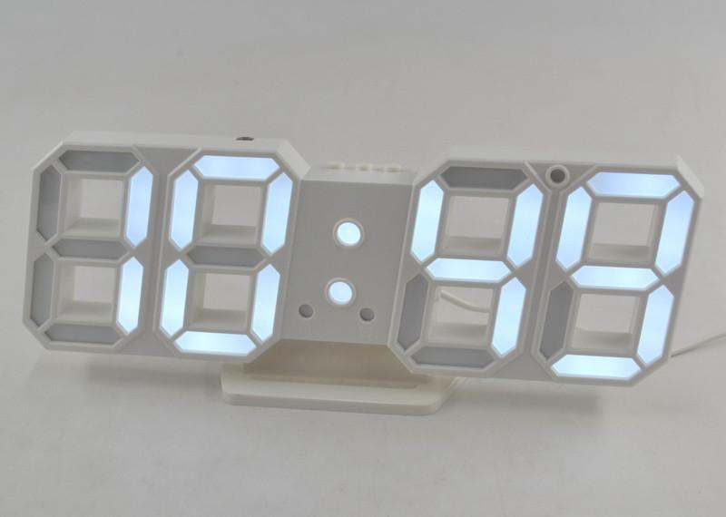 Электронные настольные LED часы с будильником и термометром Caixing CX-2218 белая подсветка