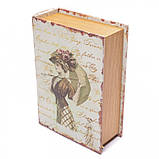 """Книга-сейф """"Девушка с зонтом"""" (22*16*7 см) тайник с ключом, фото 3"""