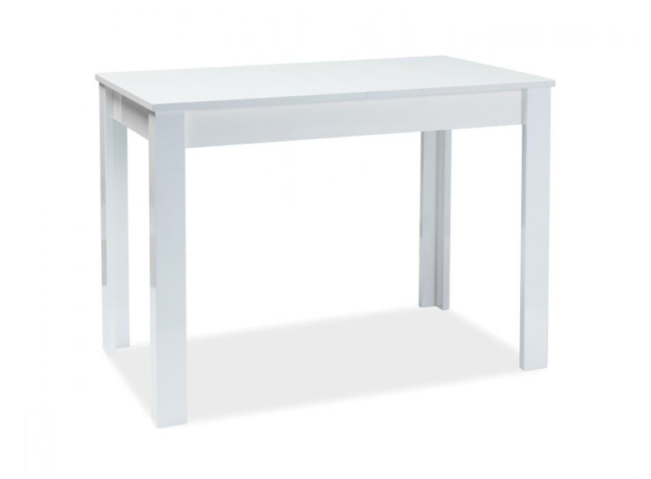 Стол обеденный деревянный раскладной Albert 100x60(140) Signal белый