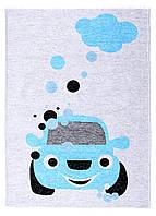 Ковер детский My Home Moretti Side двусторонний синий Автомобиль, фото 1