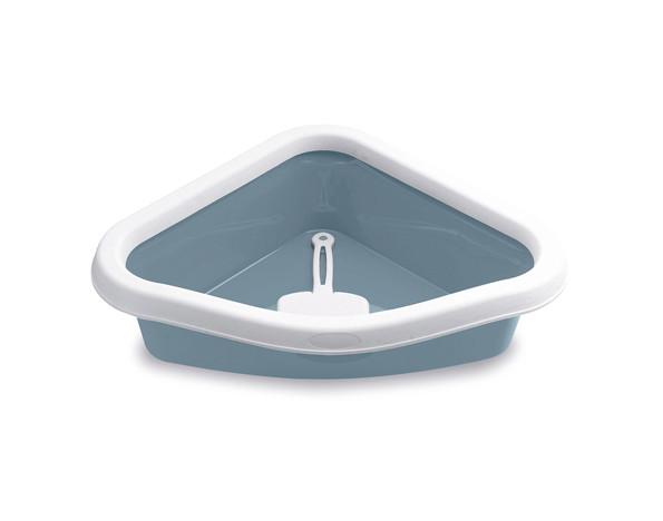 Туалет Sprint Corner 40x56x14 кутовий з обідком для кішок Stefanplast