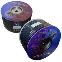 Кабель акустический Sound Pro, Cu, 2х3.0мм², круглый, 100м., JY-04519