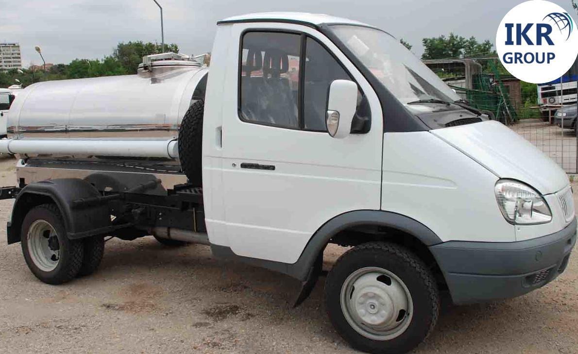 Молоковоз с цистерной для молока 1000 литров, на шасси ГАЗ- 3302