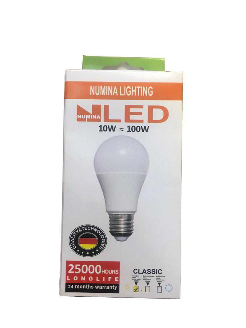 Світлодіодна лампа груша LAMP картон A60 10W E27 3000K 160