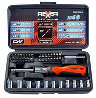 Набор сменных головок и насадок с держателем 46 ед. REXXER RA-04-264