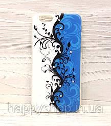Силіконовий чохол-накладка для iPhone 6/6S (Blue Rose)