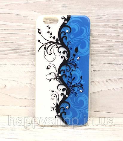 Силиконовый чехол-накладка для iPhone 6/6S (Blue Rose) , фото 2