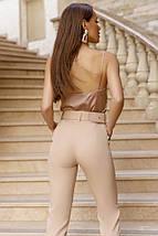 Модные брюки с поясом, фото 2