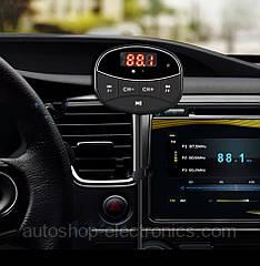 ФМ модулятор с магнитным креплением (Bluetooth FM + microSD + HandsFree + AUX out)