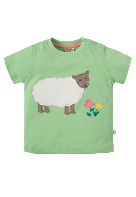 Футболка Frugi,  Little Polkerris Applique, мятная
