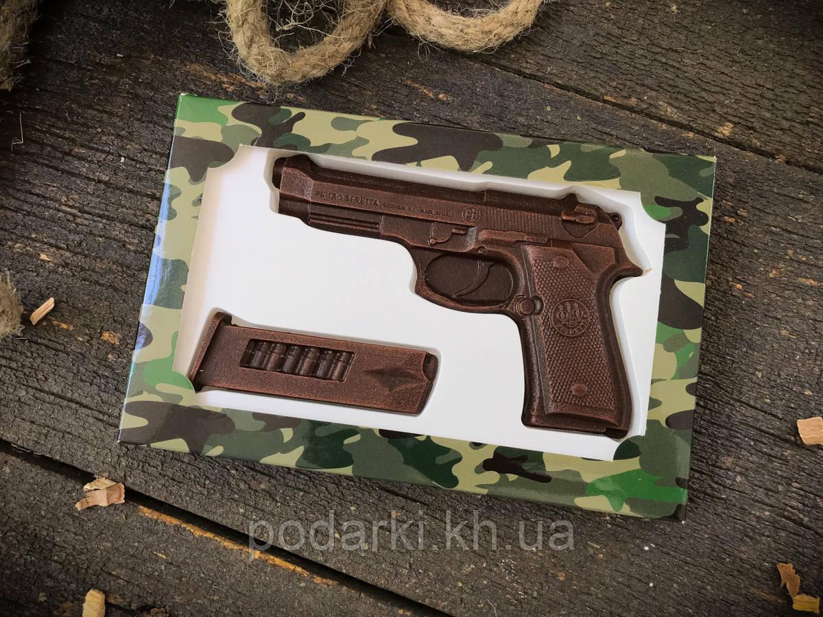 Шоколадный набор Пистолет с обоймой