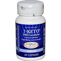 7-Кето потеря веса  DHEA  метаболит Enzymatic Therapy 25 мг 60 капсул
