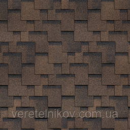 Черепица Финская Шинглас Аккорд (Shinglas Accord) коричневая