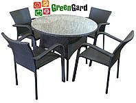 Комплект БАЛЕАР Лайт садовая мебель из искусственного ротанга стол + 4 стула