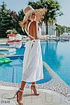 Свободный летний сарафан миди из прошвы белый, фото 2