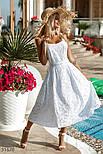 Свободный летний сарафан миди из прошвы белый, фото 3