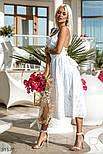 Свободный летний сарафан миди из прошвы белый, фото 4